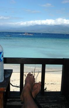 Beach view on Gili T, Lombok, Indonesia